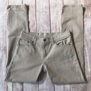 Levi's 511 Tan Denim Jeans